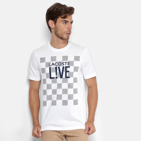 Camiseta Lacoste Live Estampada Masculina - Compre Agora   Zattini 91e6a75b46