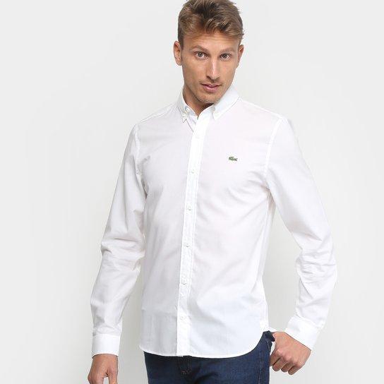 25dc71ca43f64 Camisa Lacoste Live Manga Longa Masculina - Branco - Compre Agora ...