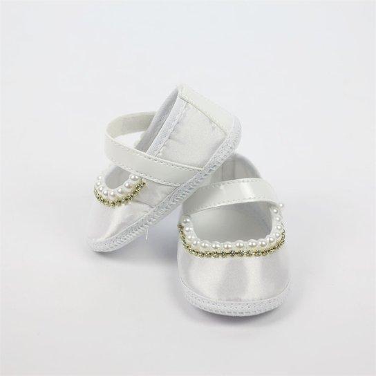 25fa14a21d Sapato Bebê Feminino Rosa com Strass e Pérolas-M - Compre Agora ...