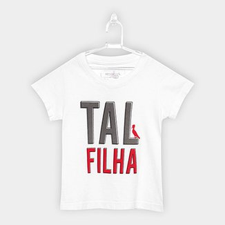 68a602a77b79 Camiseta Infantil Reserva Mini Pai e Filho Tal Filha Feminina