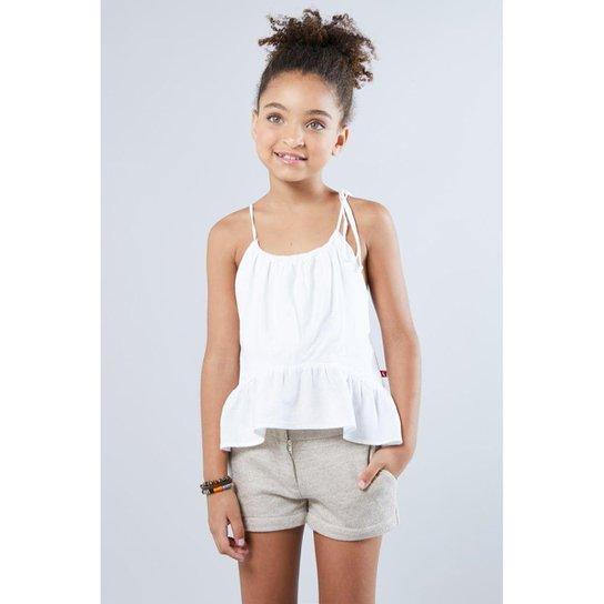 fc3bbb16ea Blusa Infantil Soltinha Reserva Mini Feminina - Branco