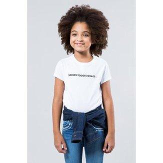 8e6b271865 Camiseta Infantil Somos Todos Iguais Reserva Mini Feminina