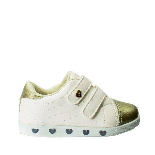Tênis LED Infantil Pampili Sunmood Sneaker - Branco - Compre Agora ... cdc61daf16c