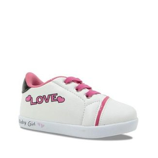 83f12c46a9 Tênis Infantil Casual Pampili Love Feminino