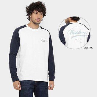 bfd6e95f5 Camiseta Nicoboco Raglan 2 Collors Manga Longa