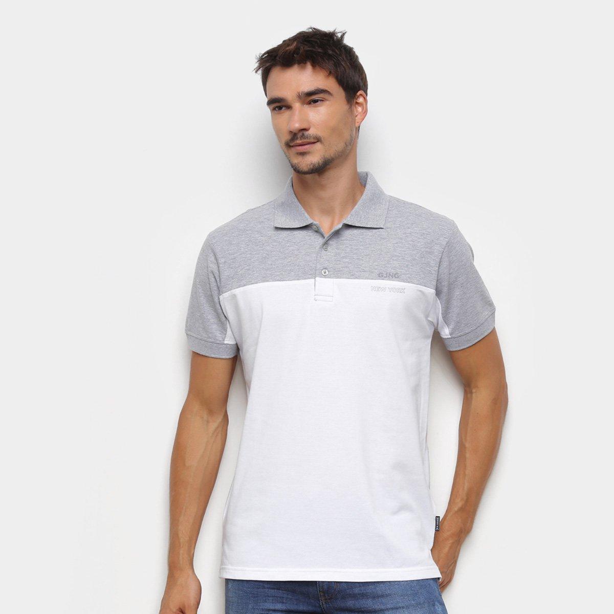 Camisa Polo Gajang Lisa Masculina