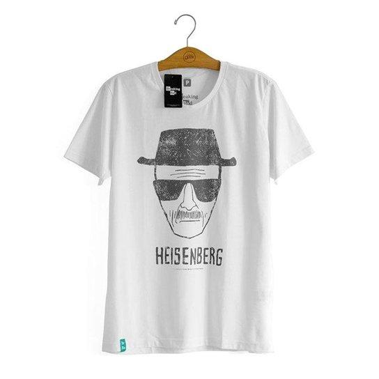 a3a8bdb00 Camiseta Breaking Bad Desenho Heisenberg - Branco - Compre Agora ...