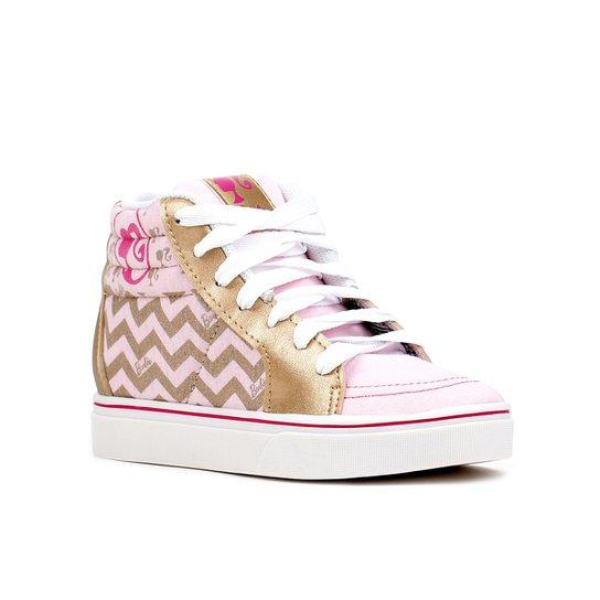 dc6870a5fb7 Tênis Infantil Para Menina Barbie Patinete Fever Rosa dourado - Rosa+Dourado