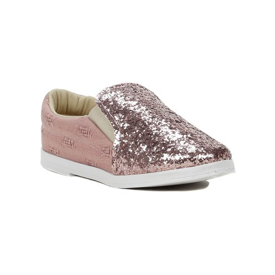 8fad9f066 Sapato Infantil Para Menina - Rosa dourado - Rosa e Dourado - Compre ...