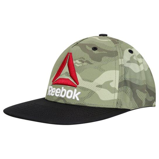 Boné Reebok Aba Reta Os 6 Pan Masculino - Verde Militar+Preto 835501ec5c3be