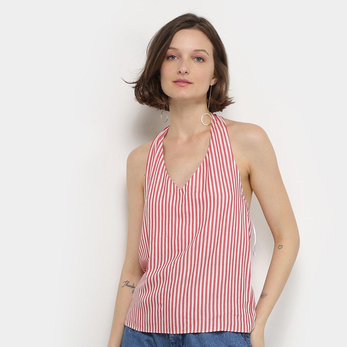 Blusas Lez A Lez Frente Única Estampada Feminina