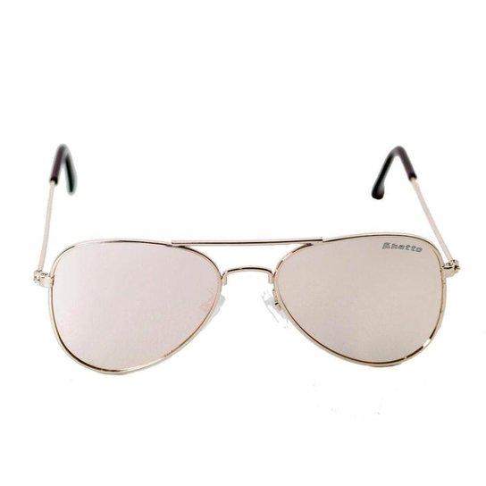 07eb0362cd296 Óculos de Sol Khatto Infantil Aviador Station Feminino - Rosa+Dourado