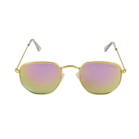 c5b826c90 Óculos de Sol Khatto Fusion Round Masculino - Rosa e Dourado | Zattini