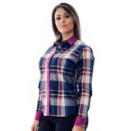 593bec3f9 Camisa Pimenta Rosada da Xadrez Layne - Compre Agora | Zattini