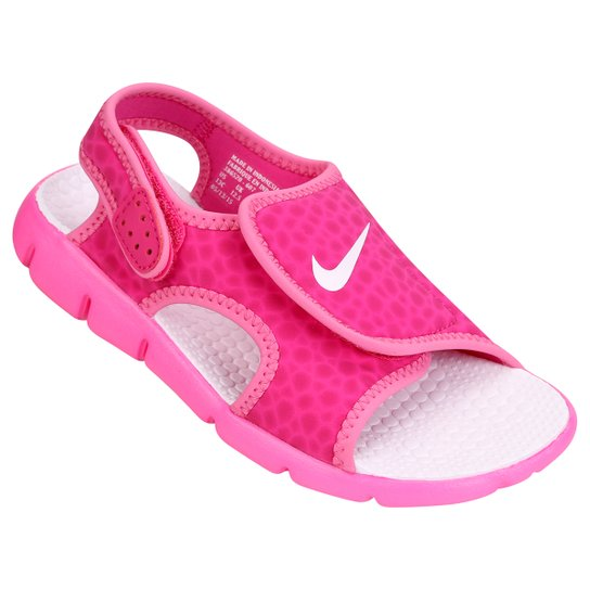 f6e0e5882 Sandália Infantil Nike Sunray Adjust 4 GGP Feminina - Rosa Escuro ...