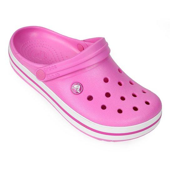 99d75653b5ec1 Crocs Crocband - Rosa Escuro e Branco - Compre Agora