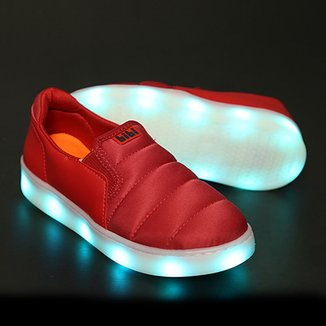 34679a9d5 Tênis Infantil Bibi LED Clique-se Colors Masculino