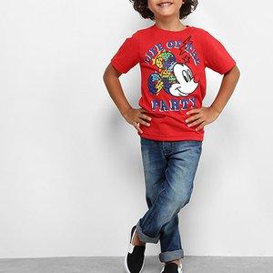 e7b67d8dc4 Camiseta Infantil Disney Mickey Party Masculina