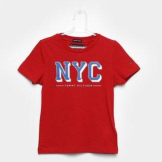 afab997553 Camiseta Infantil Tommy Hilfiger Estampada Masculina