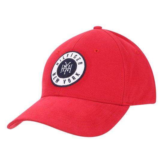 f1f023841 Boné Tommy Hilfiger Badge Cap Aba Curva Masculino - Vermelho