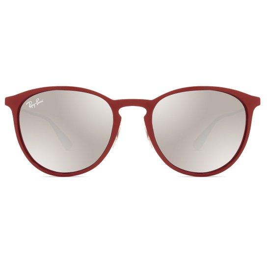 c9f306b2d633a Óculos de Sol Ray Ban Erika Metal RB3539 9023 B5-54 Feminino - Vermelho