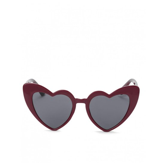 Óculos Amaro De Sol Coração Feminino - Vermelho - Compre Agora   Zattini 21fb7969d2