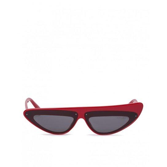 Óculos Amaro De Sol Assimétrico Feminino - Vermelho - Compre Agora ... 0b1ffe0613