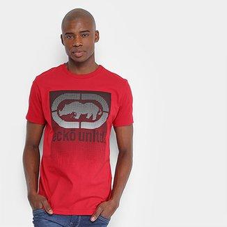 01686327a8 Camiseta Estampada Ecko Manga Curta Masculina