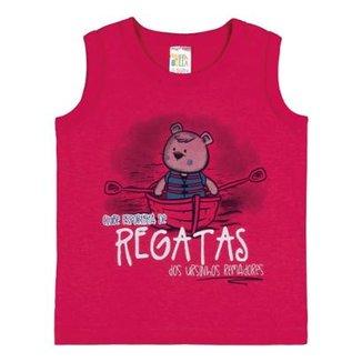 cd4dc566b8231 Camiseta Regata Infantil Pulla Bulla Meia Malha Masculino