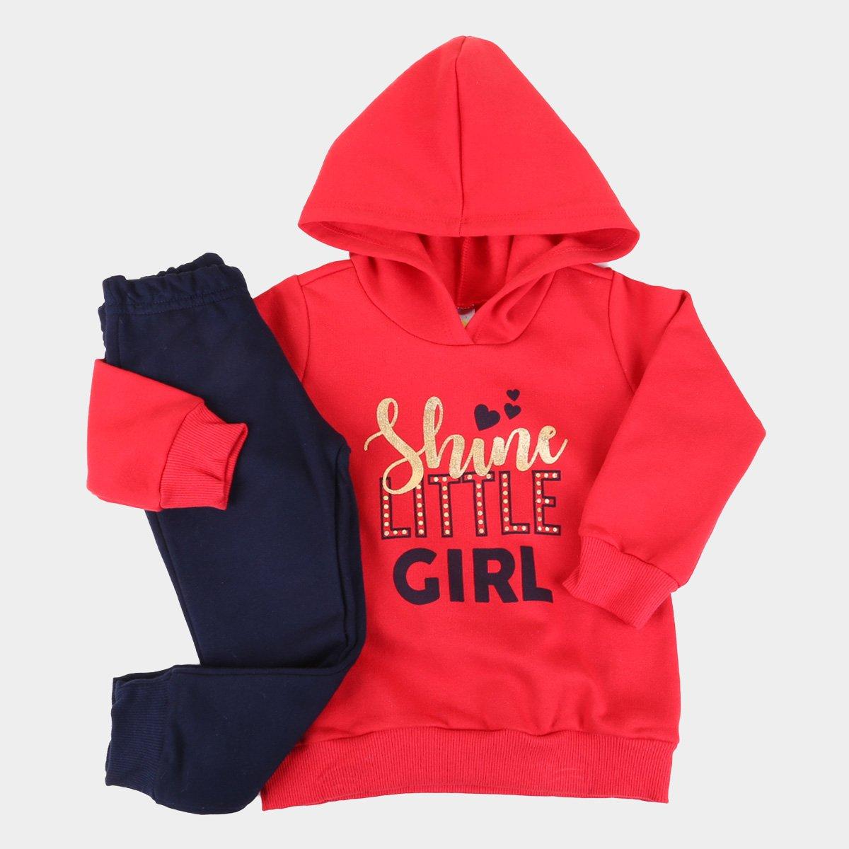 Conjunto Infantil Pulla Bulla Shine C/ Capuz Feminino