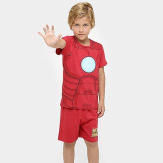 87854d7b8a Pijama Curto Avengers Iron Man Infantil