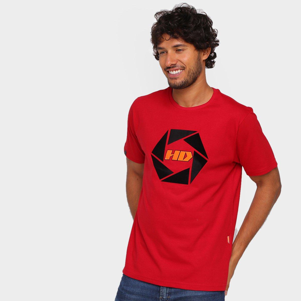 Camiseta HD Logo Degradê Masculina