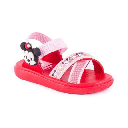 6f0ac805f Sandália Grendene Kids Mickey Minnie Com Brinde Hora Do Banho - Vermelho