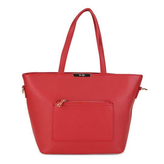 4943cad3e Bolsa Via Uno Shopper Bolso Frontal Transversal Feminina - Vermelho