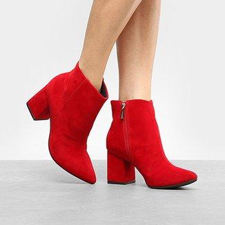 35f75698f Botas Via Uno Vermelho - Calçados   Zattini