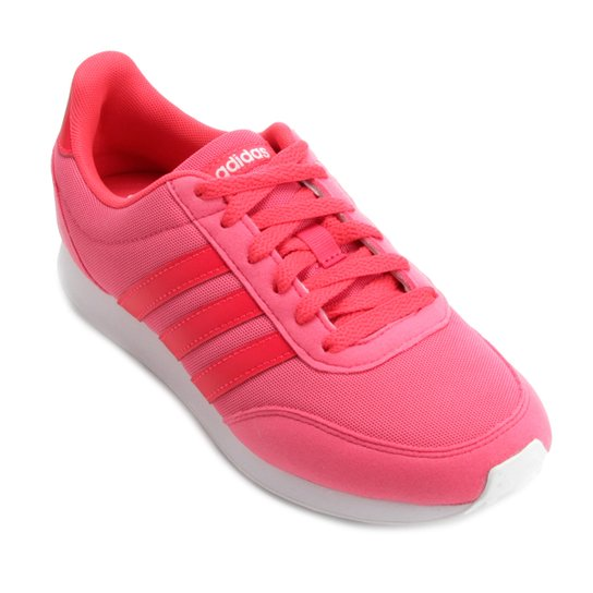 bfd74f5d33 Tênis Adidas V Racer 2 Feminino - Pink e Vermelho - Compre Agora ...