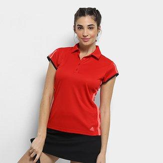 8532f7e3e3 Camisa Polo Adidas Club 3 Listras Feminina