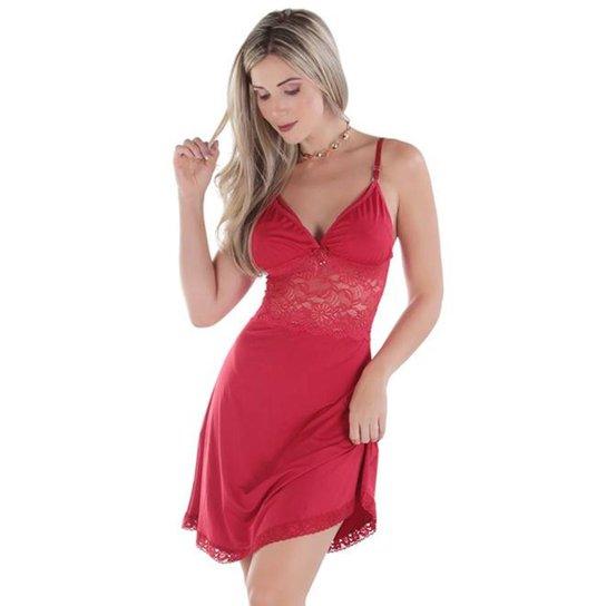 cc0a4c66e0c8 Camisola Diário Íntimo Amamentação - Vermelho   Zattini