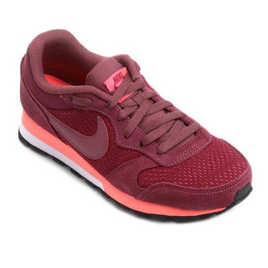 f5d9ea4ea1092 Tênis Nike Md Runner 2 Feminino - Vermelho Escuro - Compre Agora ...