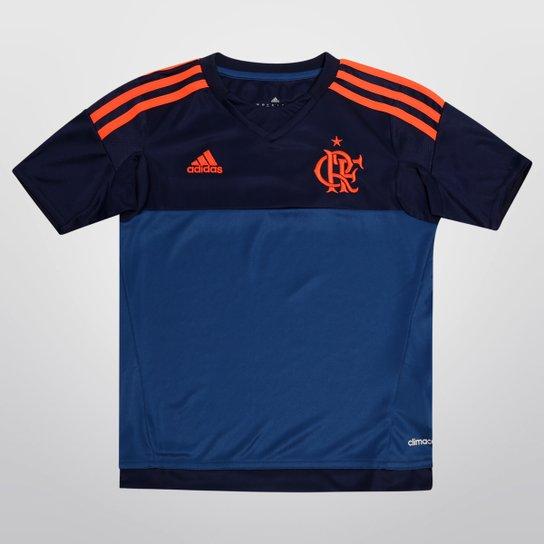 Camisa Flamengo Infantil Goleiro 2015 s nº Torcedor Adidas - Azul+Laranja 5fd7620c286a8