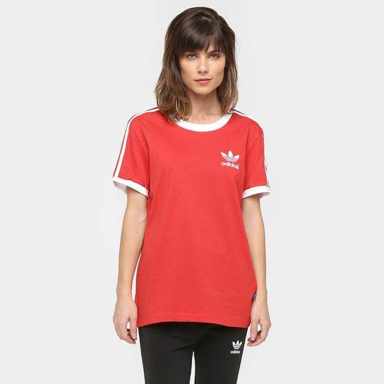 8b3e928f4 Camiseta Adidas Originals 3 Stripes - Vermelho
