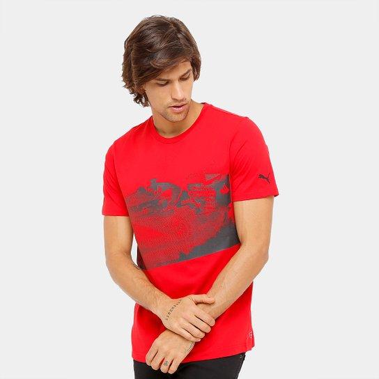 c4c6a174bd Camiseta Puma Scuderia Ferrari Transform Graphic Masculina - Compre ...