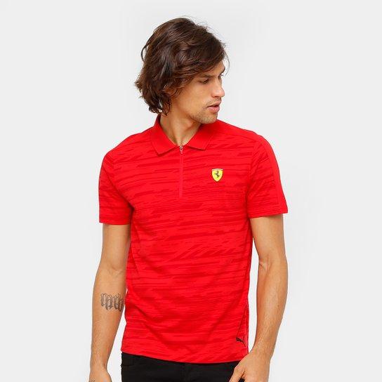 d4c7982e46271 Camiseta Pólo Puma Scuderia Ferrari AOP Masculina - Compre Agora ...