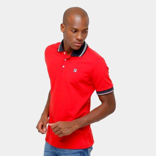 Camisa Polo Fila Premium Masculina - Vermelho - Compre Agora  1cd502b9916f1