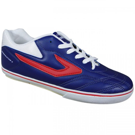 7801091e3994f Tênis Topper Dominator III Futsal - Marinho+Vermelho