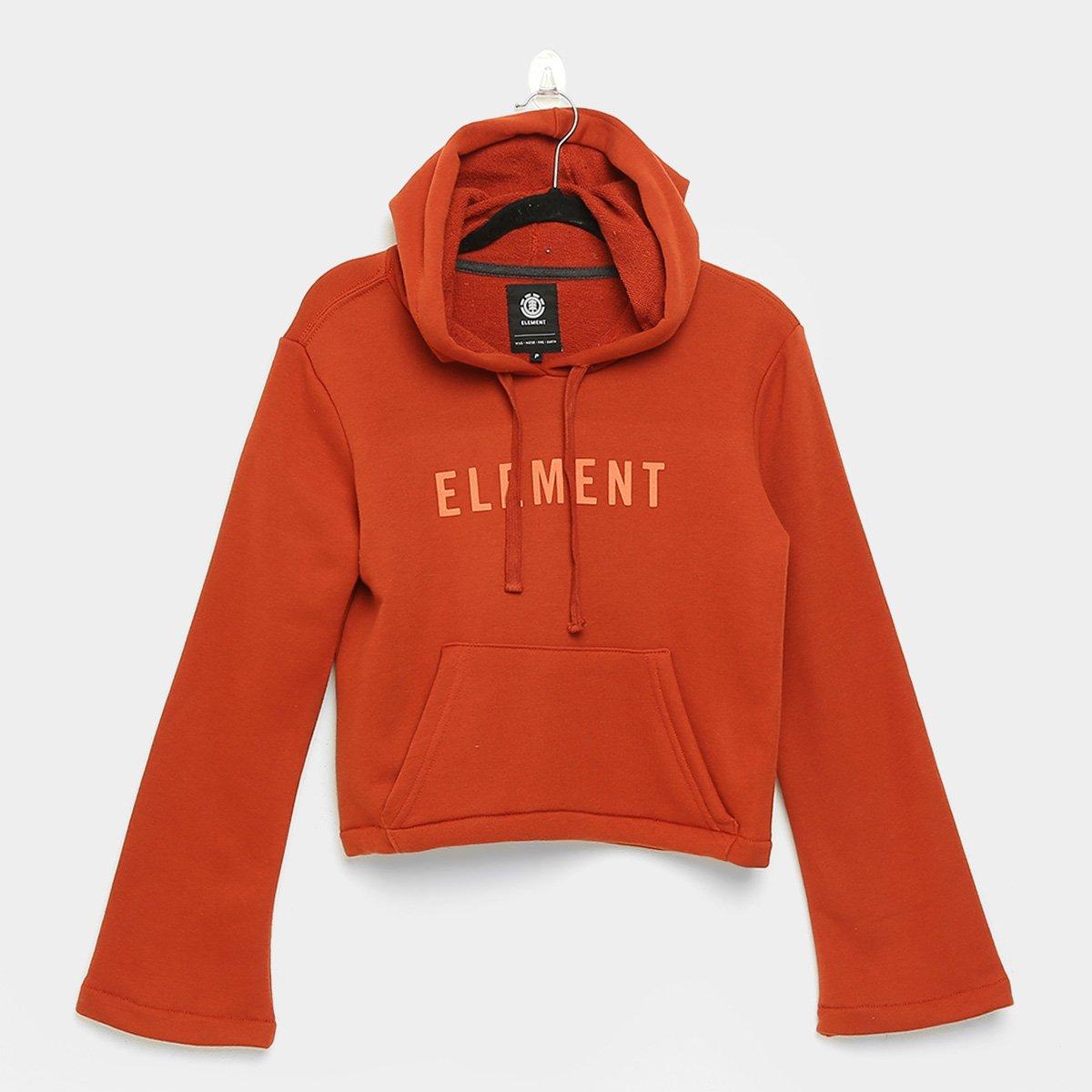 Moletom Cropped Element Brown Feminino