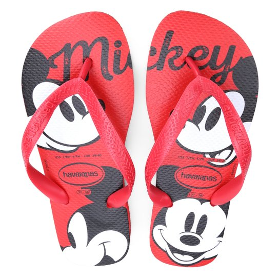 67e8dabd12 Sandália Havaianas Top Disney Mickey Mouse - Vermelho - Compre Agora ...