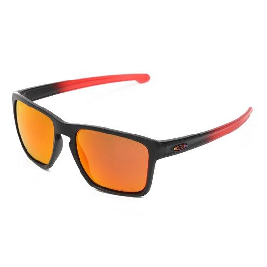 Óculos de Sol Oakley Sliver Xl Masculino - Preto e Vermelho - Compre ... 3f9738ccb8