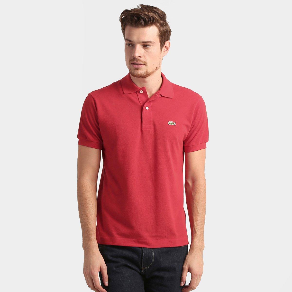 ae929e0077fab Camisa Polo Lacoste Original Fit Masculina