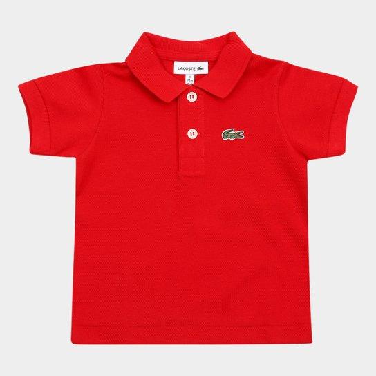 f8404cb3d35 Camisa Polo Infantil Lacoste Masculina - Vermelho - Compre Agora ...